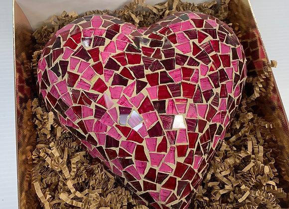 Artisanal Mosaic Heart One of a Kind.