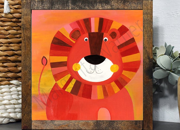 """Lion King Painting 8x8"""""""