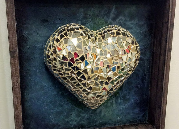 Looking Glass Framed Heart