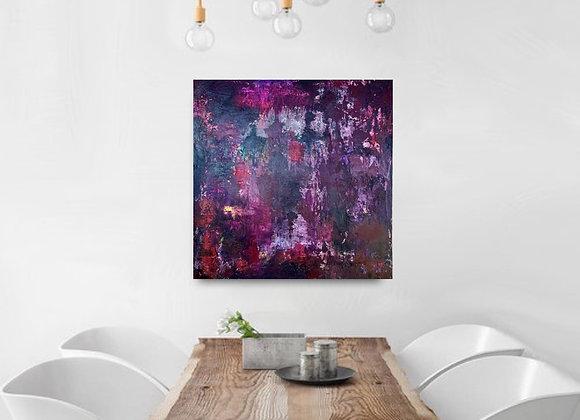 "Red Wine original art 25x25"""