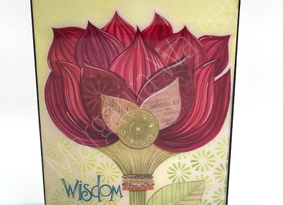 """Wisdom Flower watercolor art 5x7"""""""