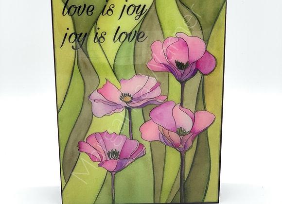 Love is Joy Watercolor Art