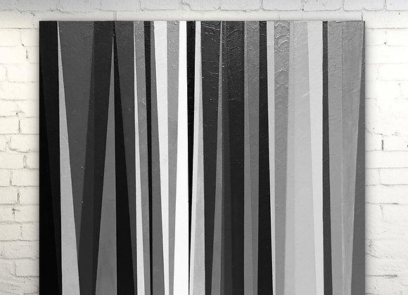 Trust Your Journey / Stripes Art /Original painting /36x36x1.5
