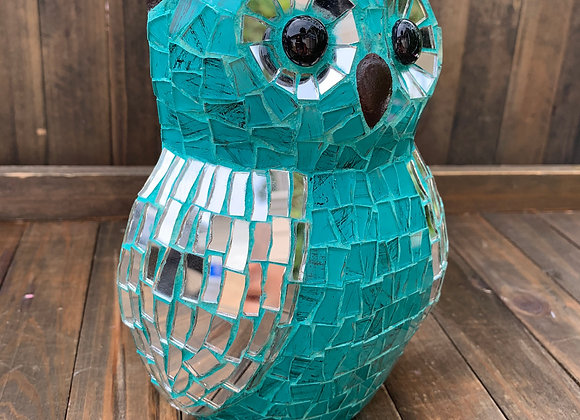 Mosaic Owl hand-made for wall