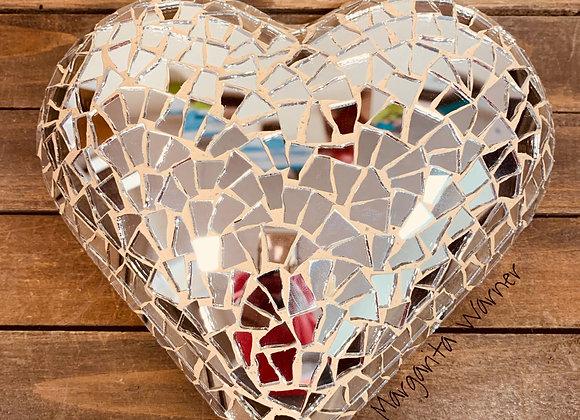 Looking Glass Mosaic Heart