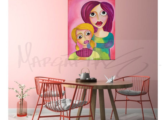 Mother and Daugther Original painting