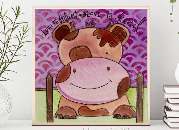 Cow Watercolor Art