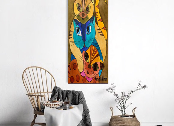 We are on this together original canvas 16x40