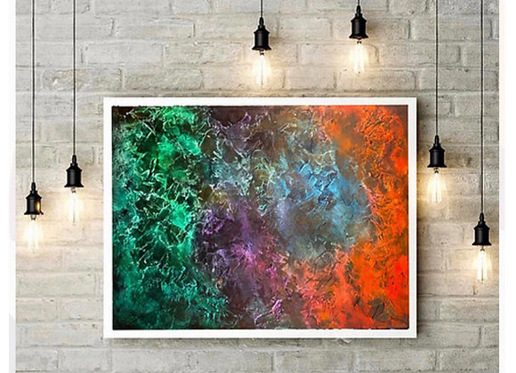 Original Paintng /24 x 36/Abstract Texture Love