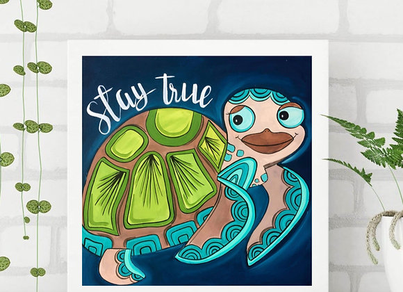 "Sea turtle fine art print 8x8"""