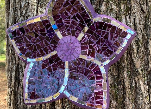 Mosaic Wall Art Purple Flower