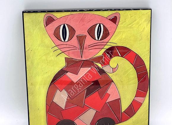 "Picasso Cat Acrylic 8x8"""