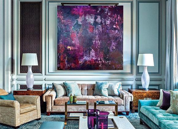 "Red Wine original painting 48x48x2"""
