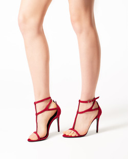 BETTY RED SUEDE