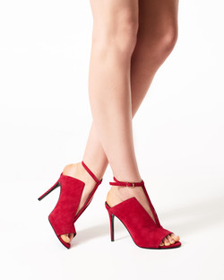 ANGIE RED SUEDE