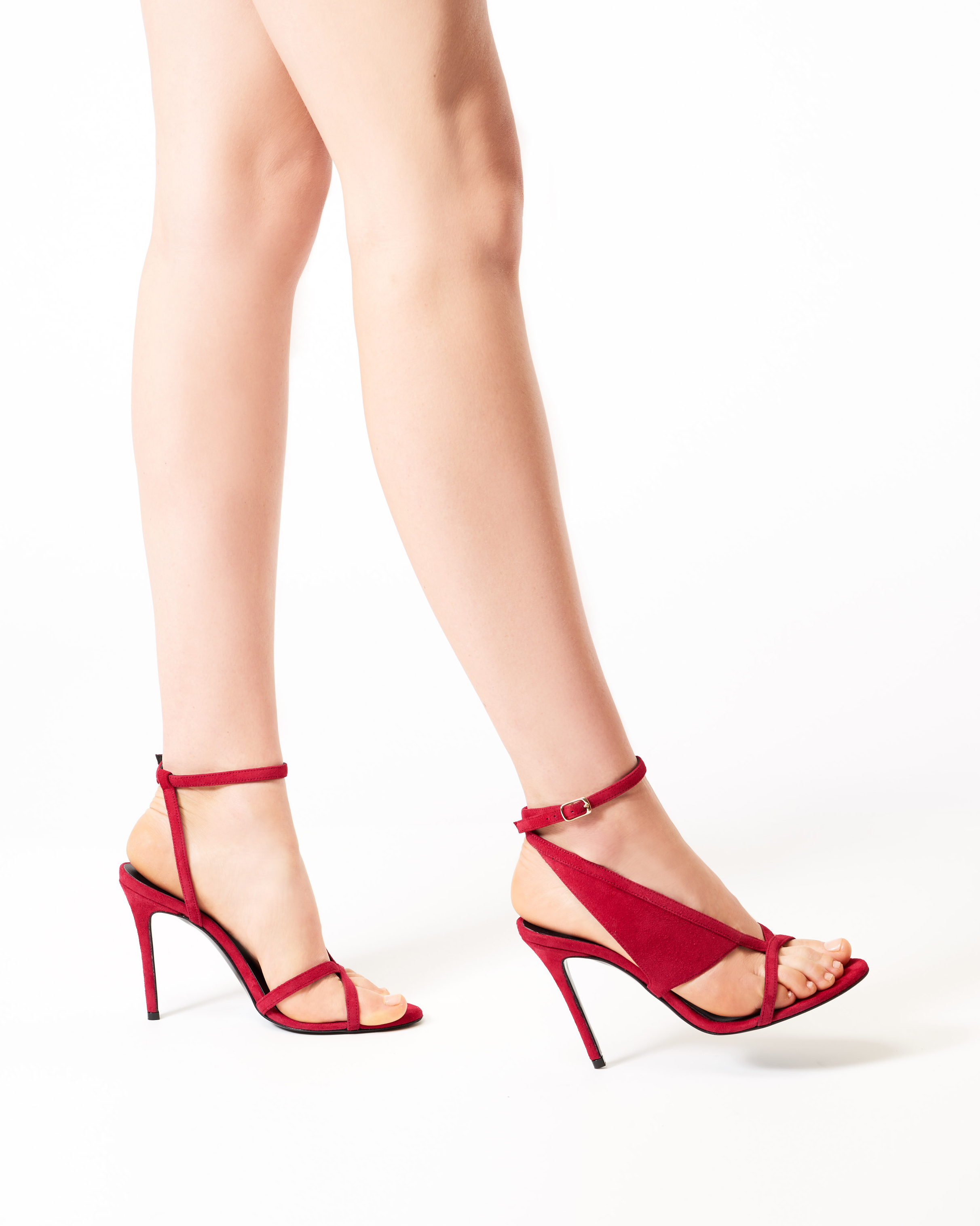 MARYLIN RED SUEDE