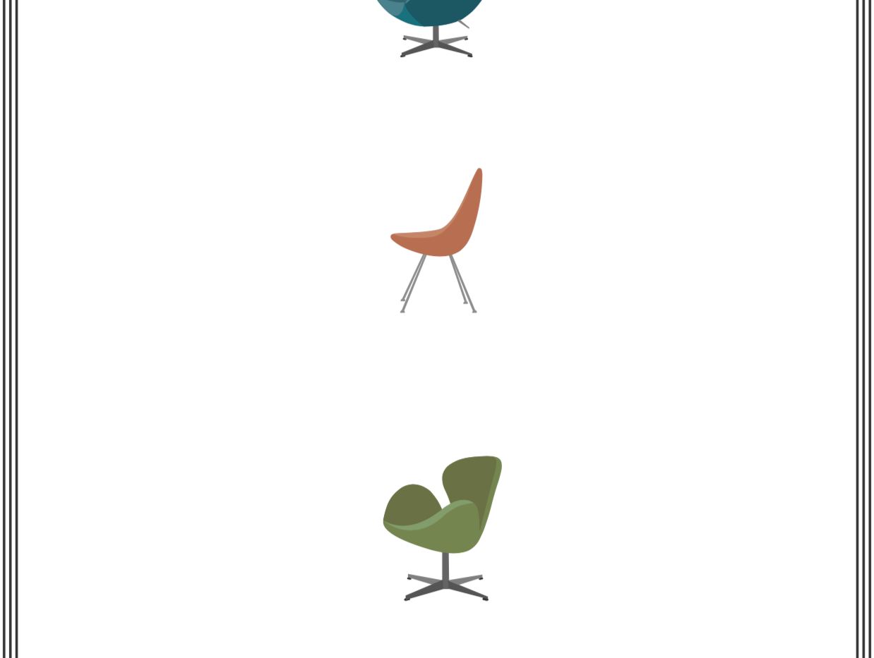Arne Jacobsen Chair Design, 1958-1959