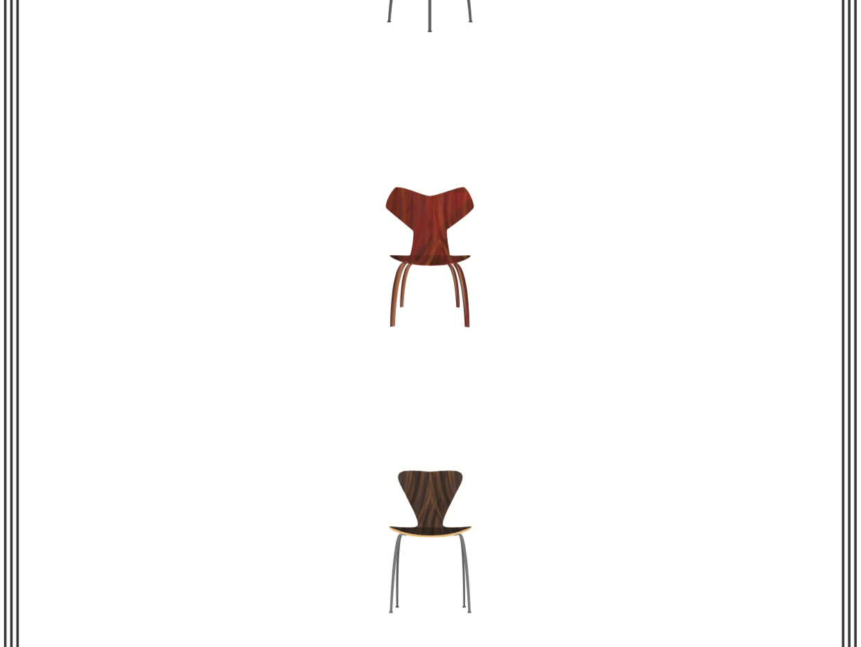 Arne Jacobsen Chair Design, 1952-1957