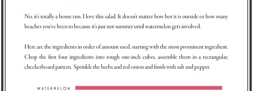 Checkerboard Watermelon Salad