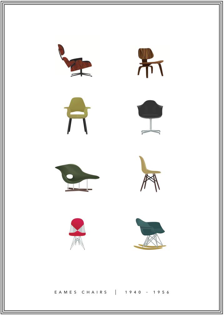 Eames Chair Design, 1940-1956