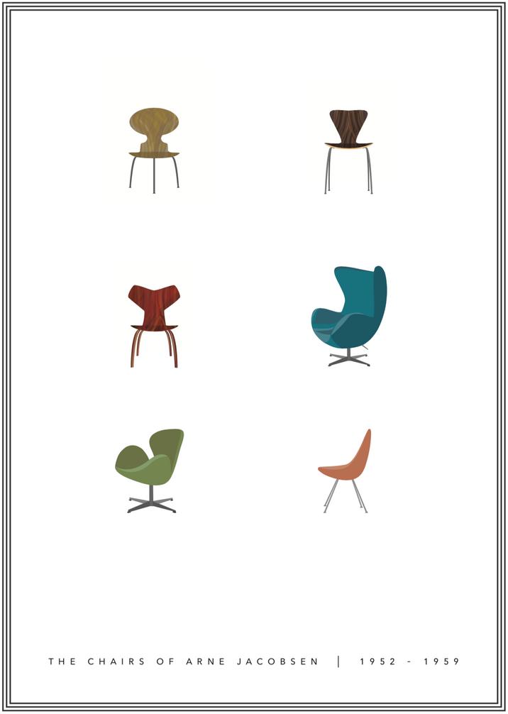 Arne Jacobsen Chair Design, 1952-1959