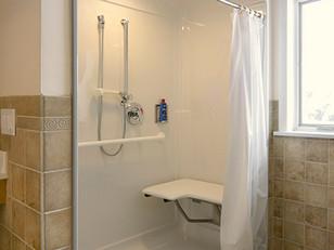 Universal Design Roll-In Shower