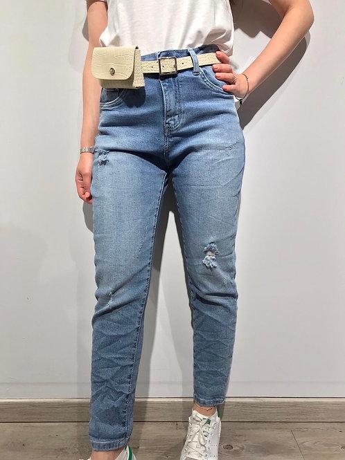 M6657 Jeans con marsupio