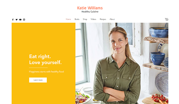 Mat och dryck website templates – Healthy Chef Online Store