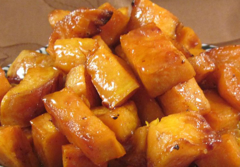 Sweet potatoes drizzled in honey