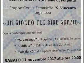 FESTA DEL RINGRAZIAMENTO Porpetto 11 novembre