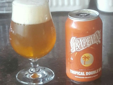 Grapevine Craft Brewery Tropical Double IPA:  A Very Tasty Effort