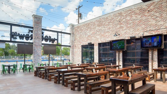 Little Woodrow's outdoor seating area Dallas
