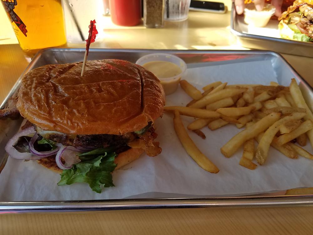 Burger at Haymaker Grill
