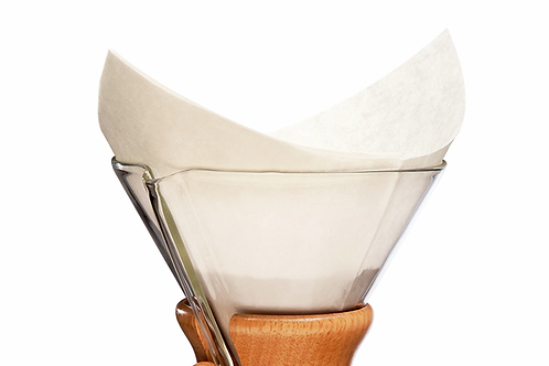 CHEMEX PRE-FOLDED SQUARES FILTERS - 100 FILTERS