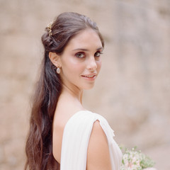 Grecian Goddess Meets Italian Beauty