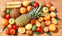 Fruit set_ pineapple, orange, kiwi. appl