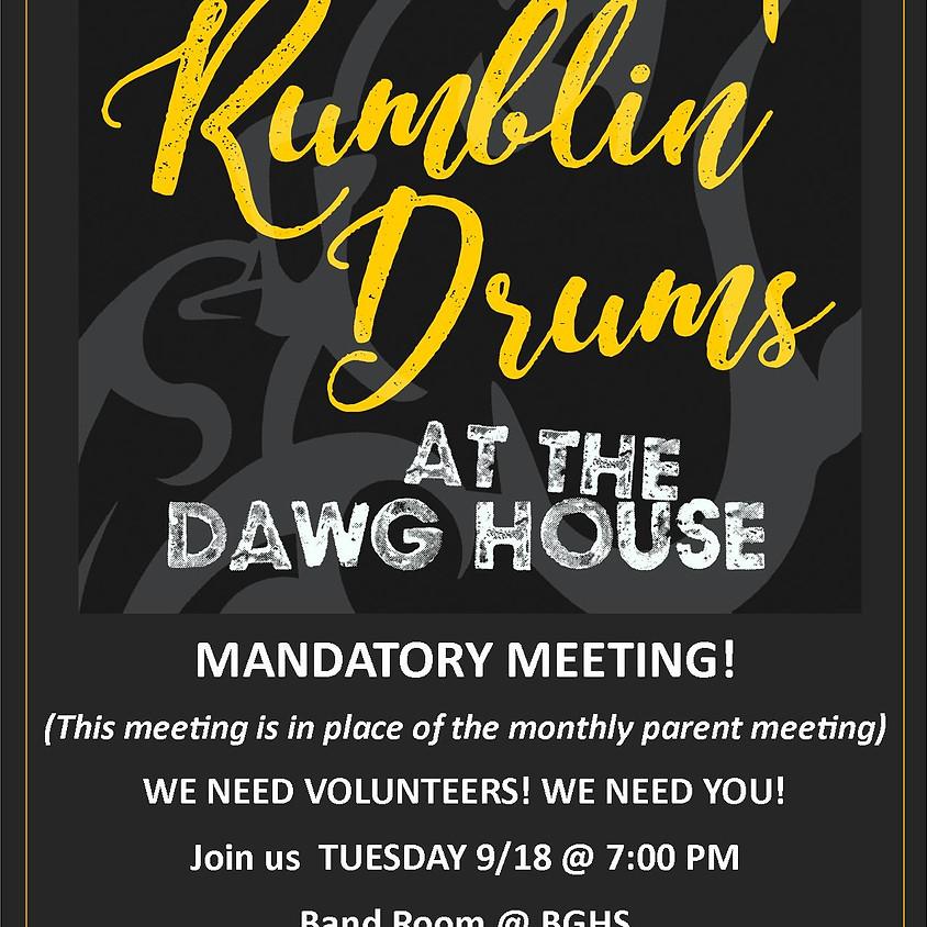 Rumblin' Drums Mandatory Meeting