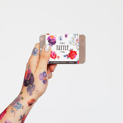 Set Tiny Floral Tin