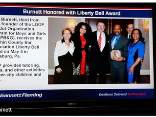 Gannett Fleming posted on GNN about Dr. Anthony Burnett, Sr. being honored with the Liberty Bell Awa