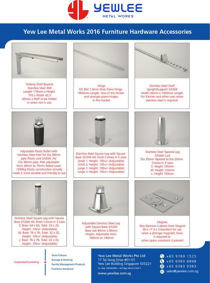 Yew Lee Metal Works 2016 Furniture Hardware Accessories