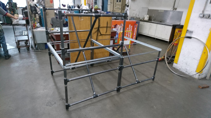 Customised Pipe Fitting Style Table Frame