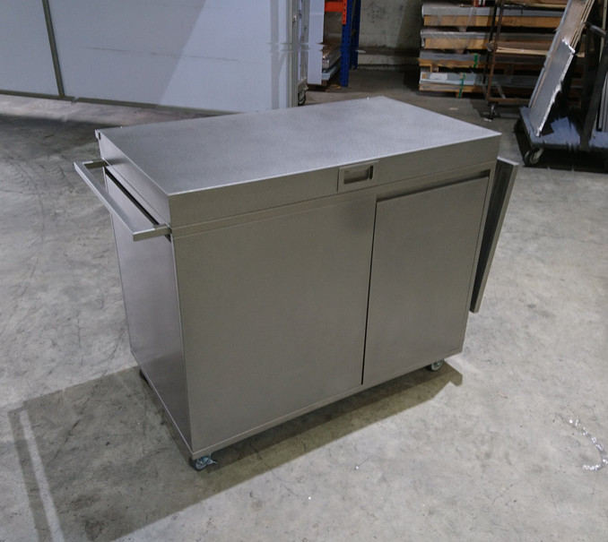 Customised Stainless Steel Mobile Kitchen Cabinet