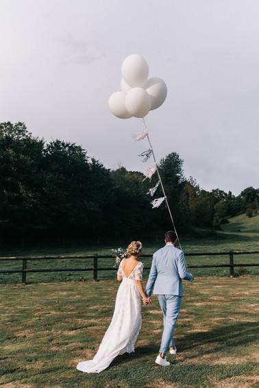 Couple au ballon