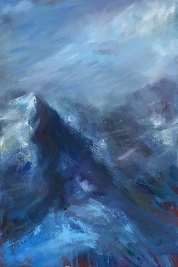 1920 Windswept mountain