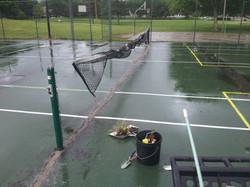 Rain didn't slow work too much