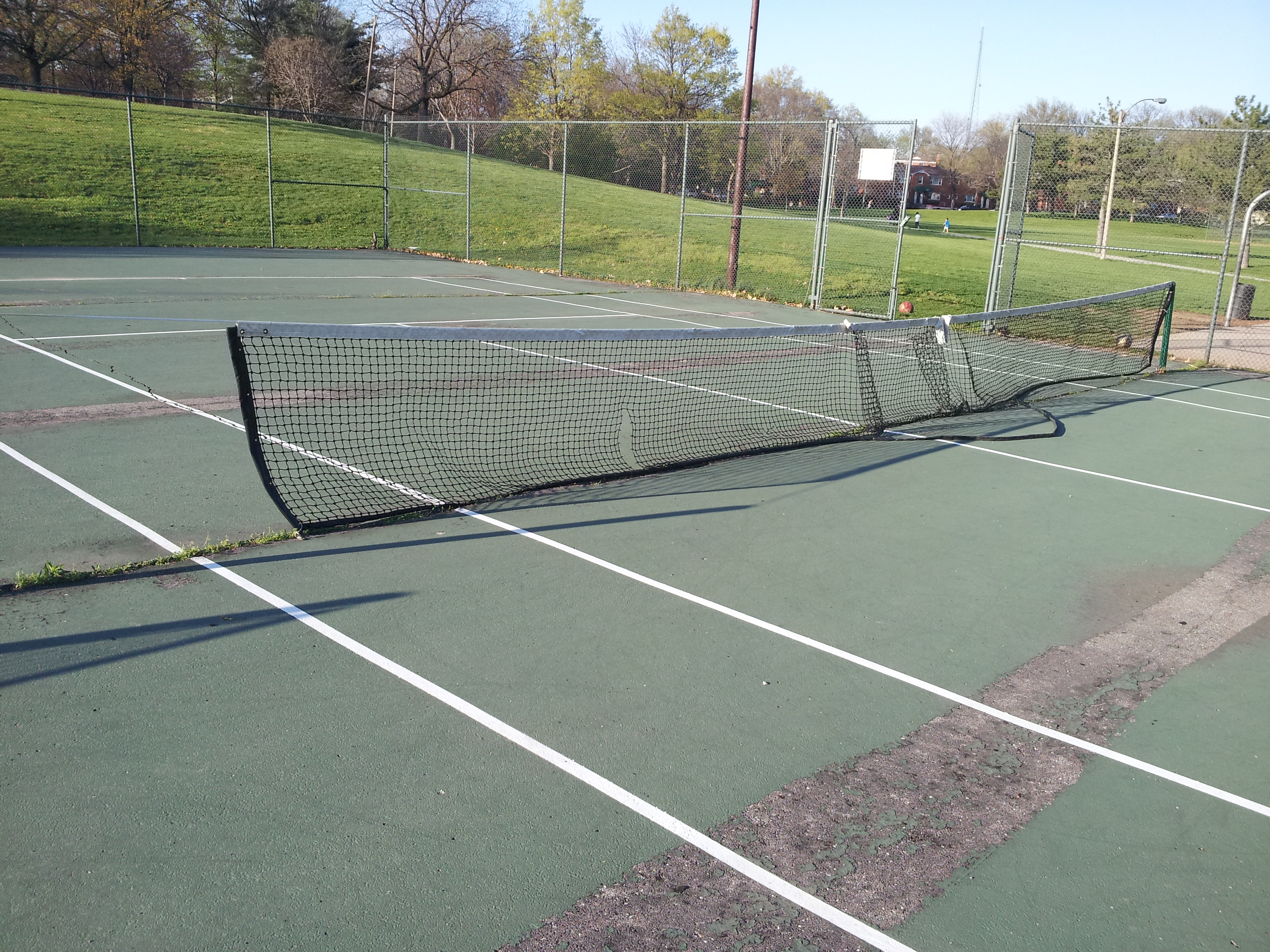 Unused and unsafe tennis courts