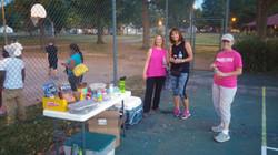 Donna, Debra & Alley Celebrating