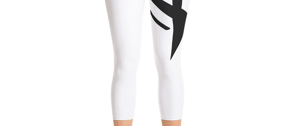 MONOCHROME WHITE Capri Leggings