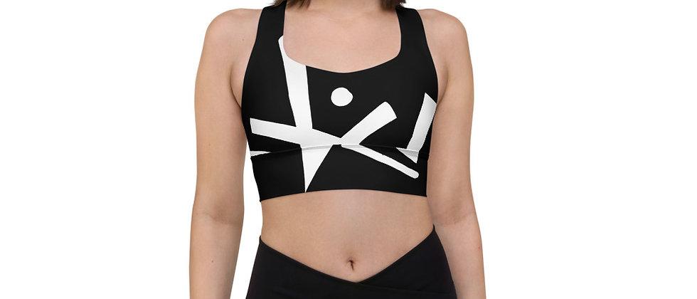 Monochrome BLK Longline sports bra