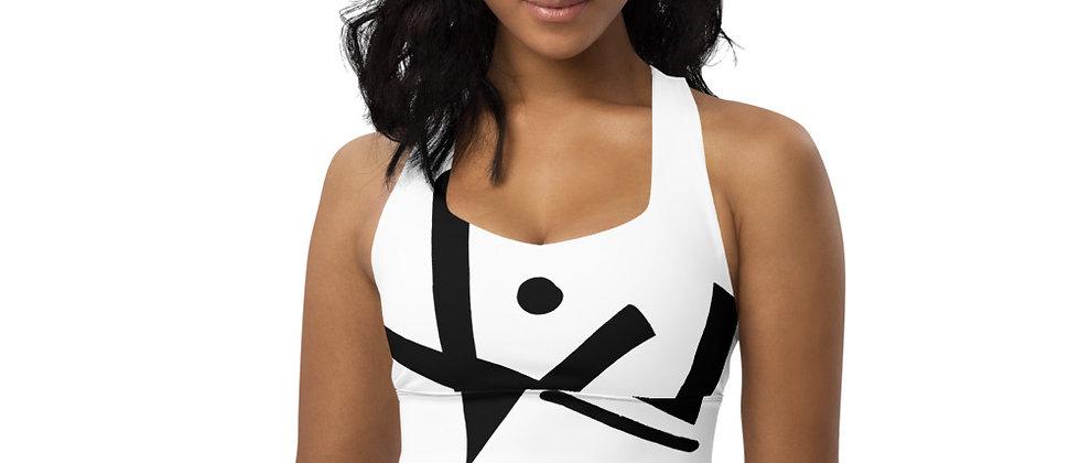Monochrome Longline sports bra
